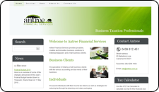 Website Design Antree Financial Services